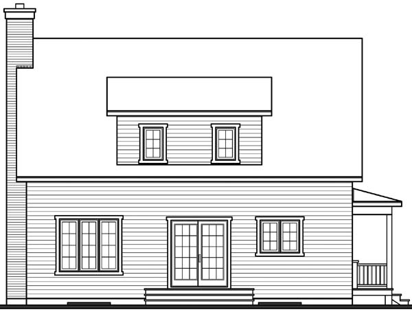 Cape Cod Country House Plan 65199 Rear Elevation