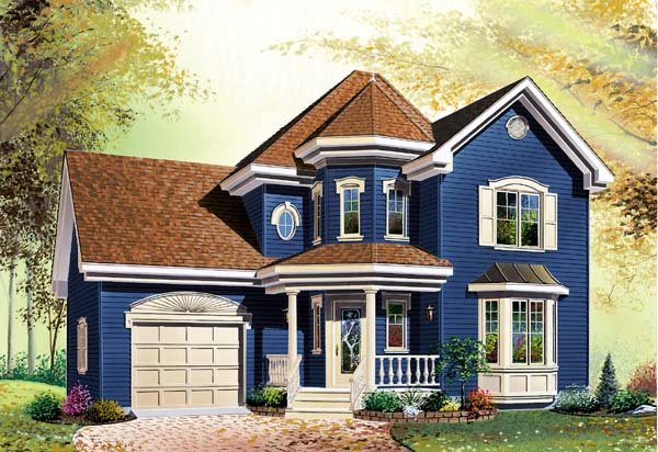 Country Victorian House Plan 65204 Elevation