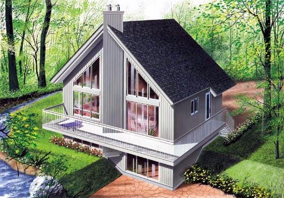 Contemporary Craftsman House Plan 65207 Elevation