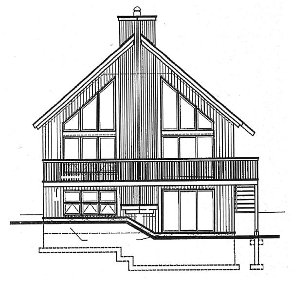 Contemporary Craftsman House Plan 65207 Rear Elevation