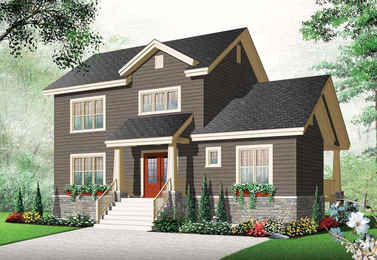 Country Craftsman House Plan 65221 Elevation