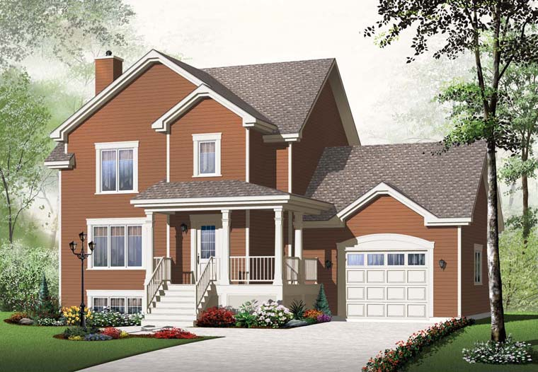 House plan 65227 at for Family homes com