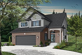 Country, Traditional House Plan 65228 with 3 Beds, 5 Baths, 2 Car Garage Elevation