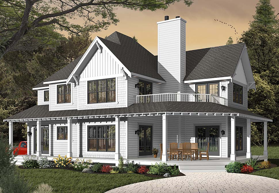 Country, Craftsman, Farmhouse House Plan 65231 with 3 Beds, 3 Baths, 2 Car Garage Picture 2