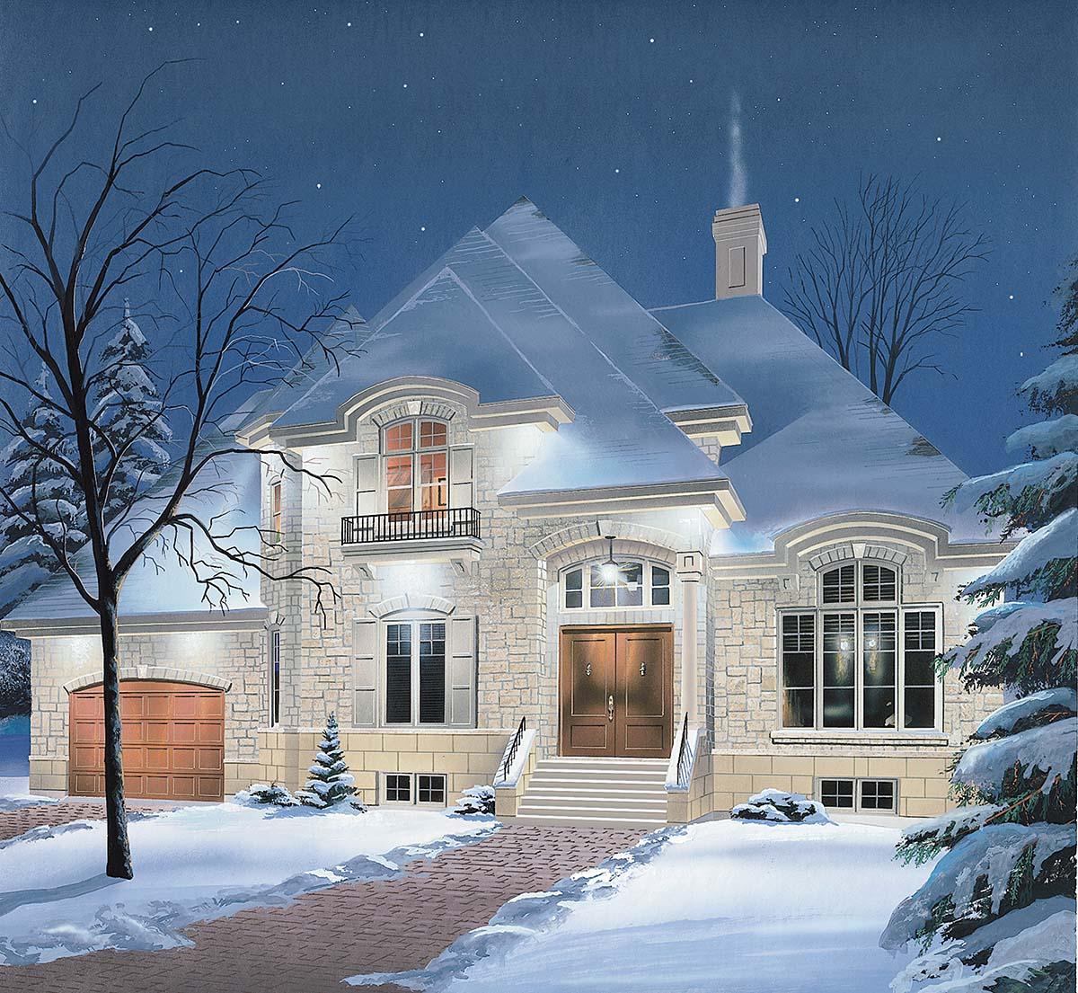 European House Plan 65233 Elevation