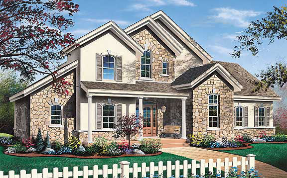 Traditional House Plan 65234 Elevation
