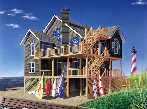 Coastal House Plan 65235 Elevation