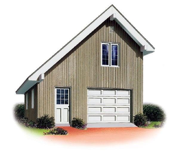 Saltbox Garage Plan 65238 Elevation