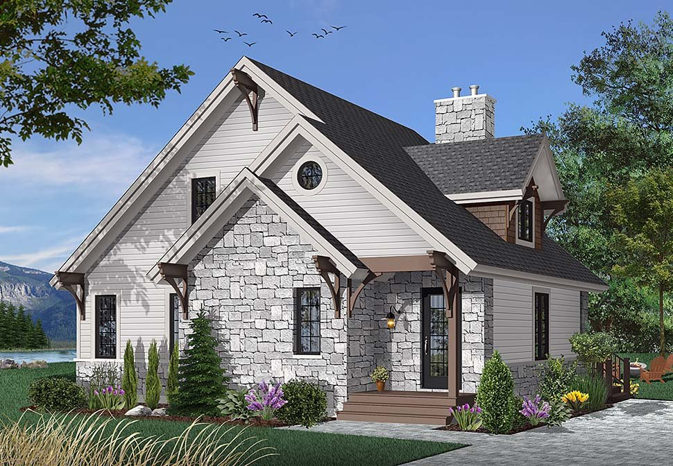 Bungalow Cottage Country Craftsman House Plan 65246 Elevation
