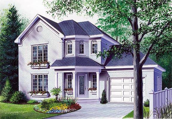 European Victorian House Plan 65248 Elevation