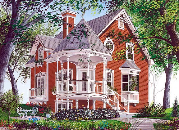 Country Farmhouse Victorian House Plan 65250 Elevation Amazing Pictures