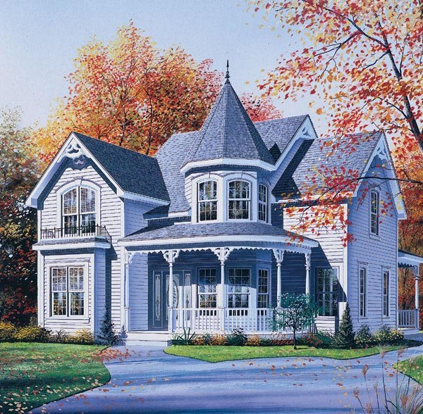 Free home plans victorian style house plans for Victorian house plans