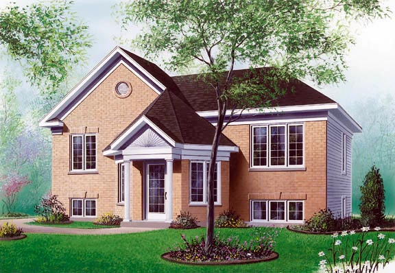 Traditional House Plan 65260 with 2 Beds, 1 Baths Elevation