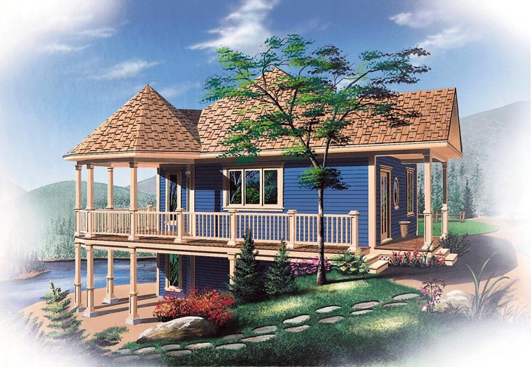 Bungalow Cabin Coastal Country Victorian House Plan 65263 Elevation