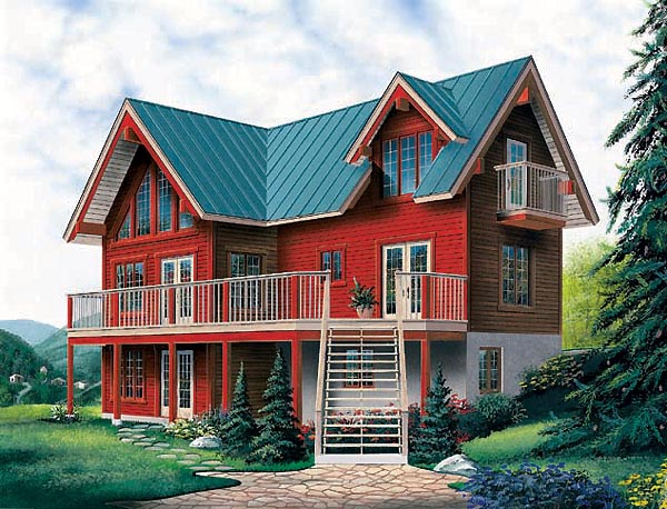 Country Craftsman House Plan 65275 Elevation