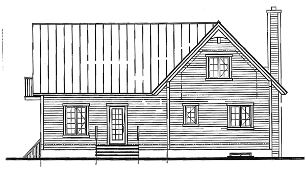 Country Craftsman House Plan 65275 Rear Elevation
