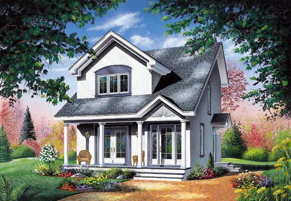 Elevation of Contemporary   House Plan 65286