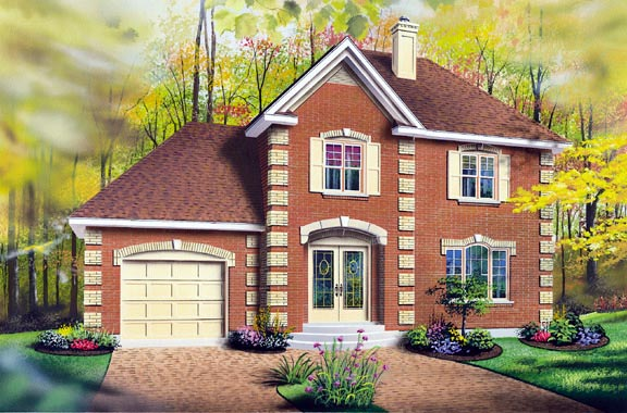 Colonial Southern House Plan 65287 Elevation