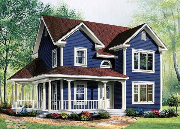 House plan 65288 at for Country farm simples