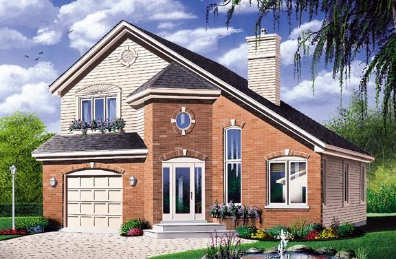 House plan 65292 at for Saltbox style house plans