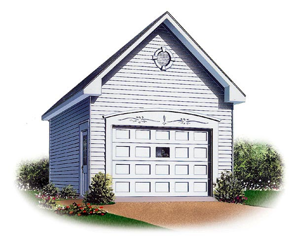 1 Car Garage Plan 65296 Elevation