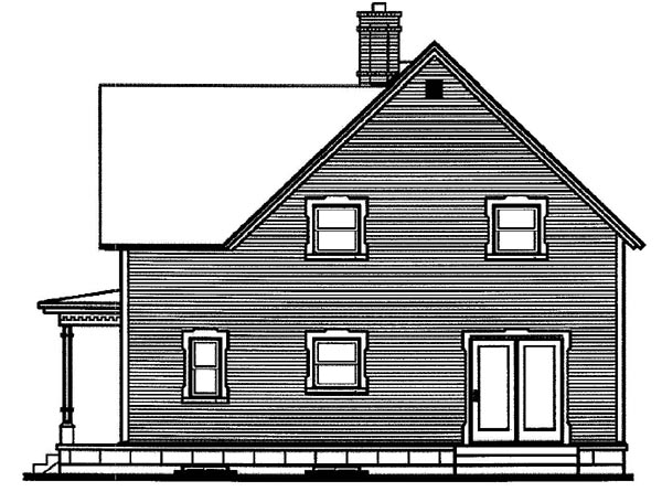 Bungalow Country Victorian House Plan 65298 Rear Elevation