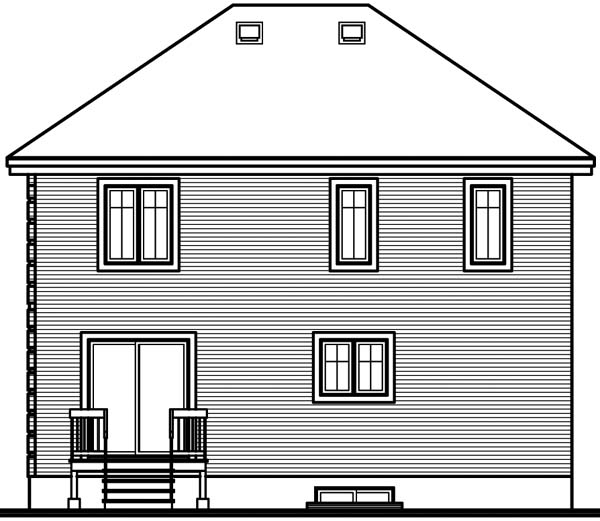 Colonial House Plan 65306 Rear Elevation
