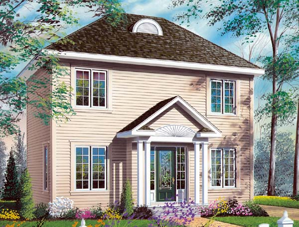 Colonial House Plan 65327 Elevation