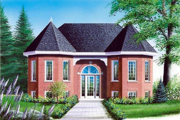 European Victorian House Plan 65329 Elevation