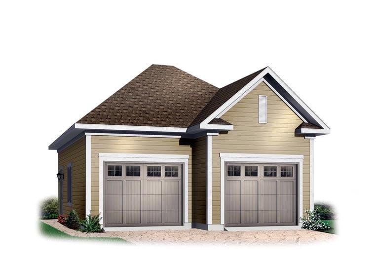 2 Car Garage Plan 65332 Elevation
