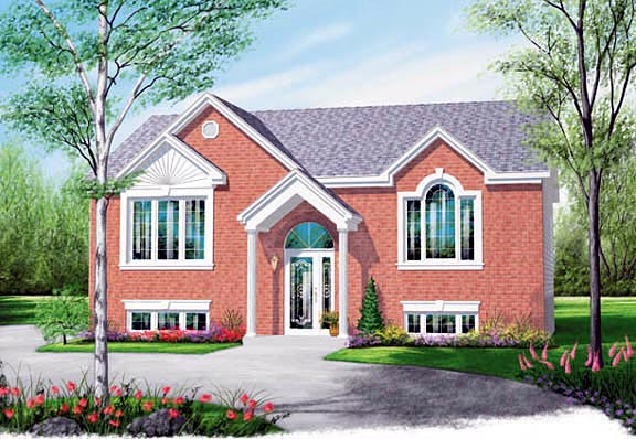 Colonial House Plan 65349 Elevation