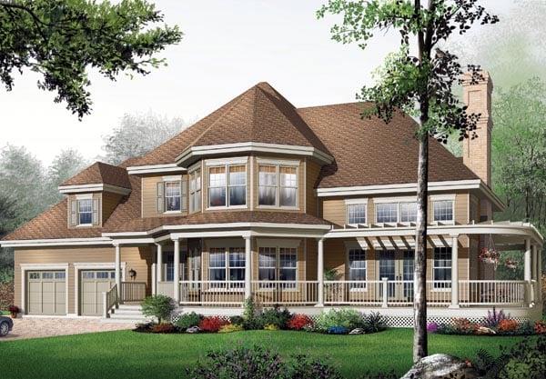Victorian House Plan 65363 Elevation
