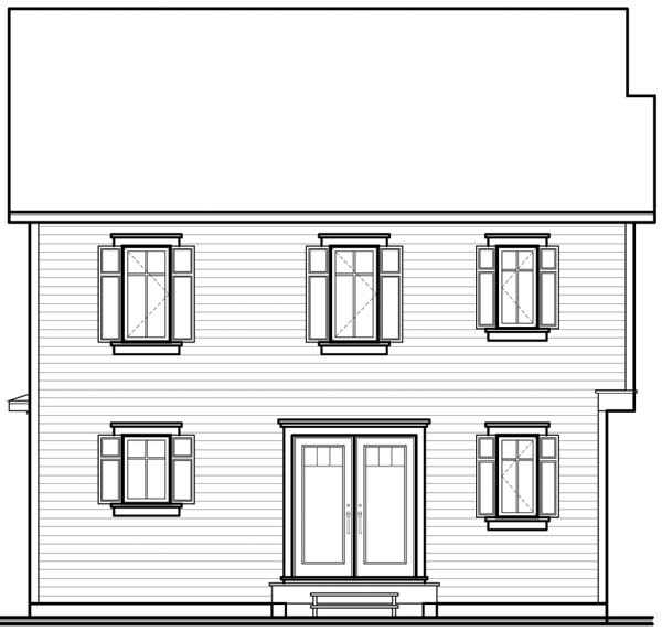 Colonial Southern House Plan 65373 Rear Elevation