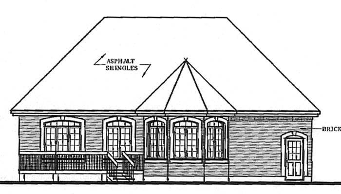 Victorian House Plan 65375 Rear Elevation