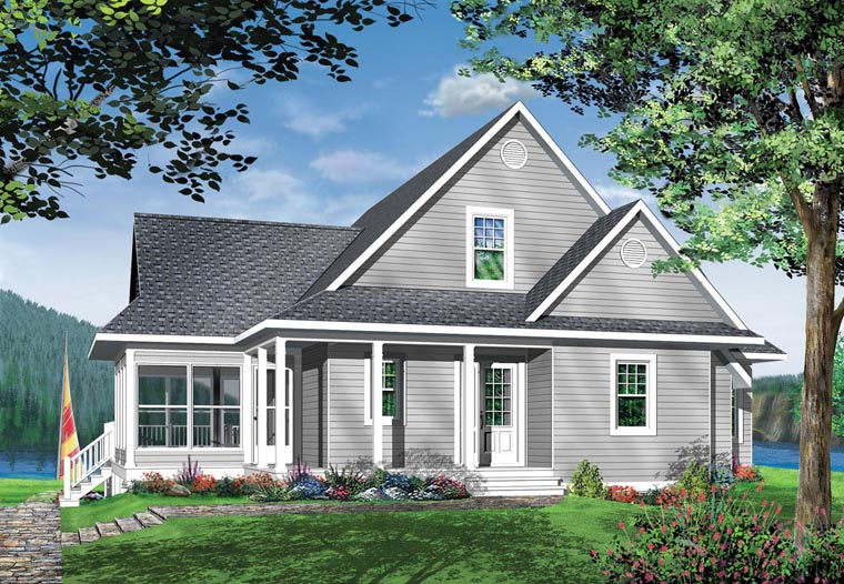 Elevation of Coastal   Country   Craftsman   Traditional   House Plan 65380