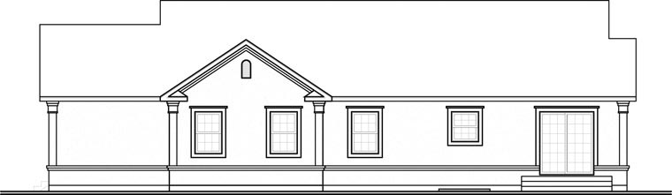 Bungalow Florida Ranch Traditional House Plan 65391 Rear Elevation