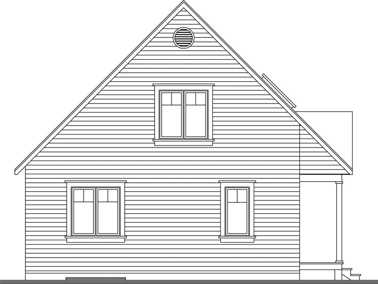 Country House Plan 65394 Rear Elevation
