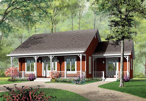 Bungalow Cabin Ranch House Plan 65395 Elevation