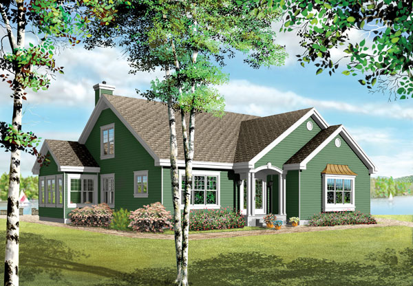 Bungalow Traditional House Plan 65399 Rear Elevation