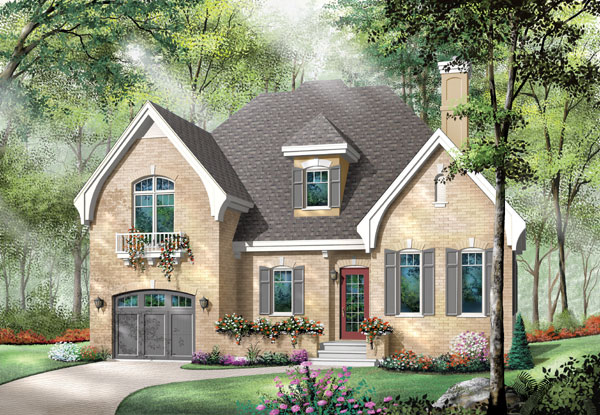 European Traditional House Plan 65410 Elevation