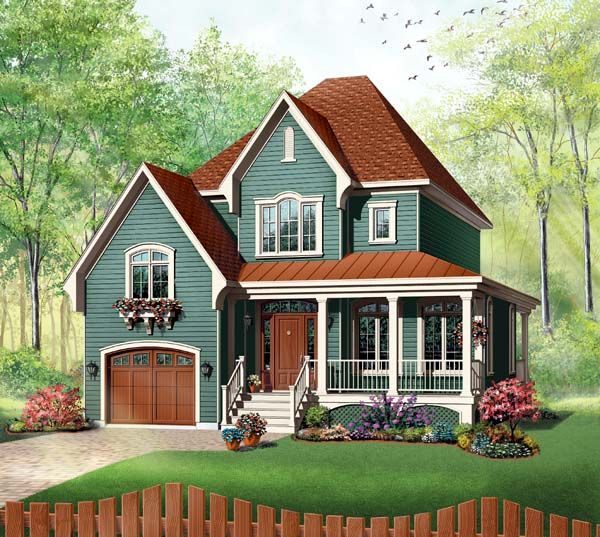 Victorian Style House Plan 65411 With 3 Bed 2 Bath