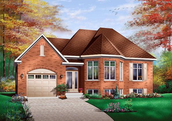 Contemporary European House Plan 65415 Elevation