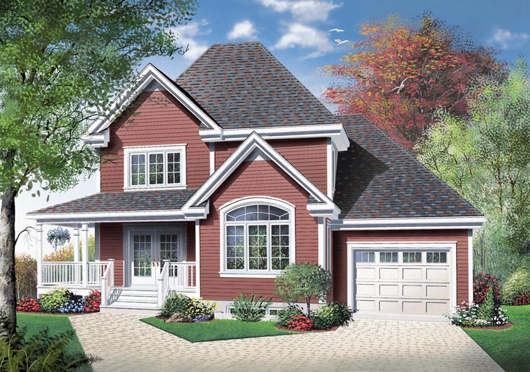 Elevation of Country   House Plan 65418