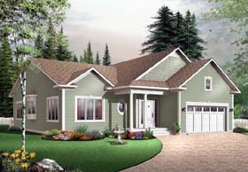 Bungalow House Plan 65432 with 3 Beds, 2 Baths, 2 Car Garage Elevation