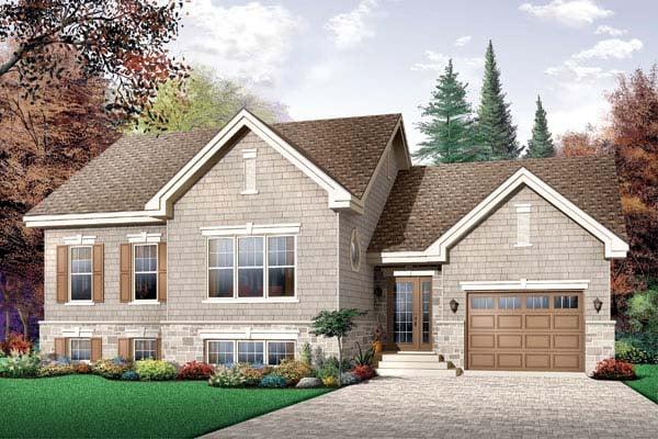 Craftsman Traditional House Plan 65449 Elevation