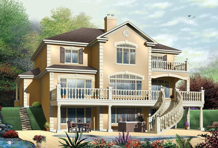House plan 65472 at for Piling house plans