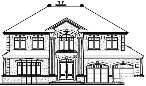 Rear Elevation of Coastal   Florida   Traditional   House Plan 65472