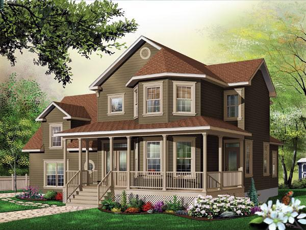Victorian House Plan 65479 Elevation