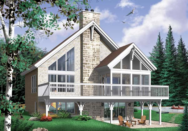 A-Frame Coastal Contemporary Craftsman House Plan 65480 Elevation
