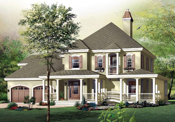 Country House Plan 65482 Elevation